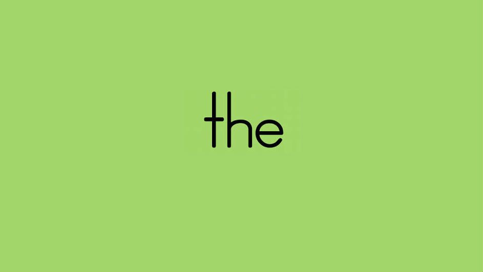 "How do you sound out the word ""the"""
